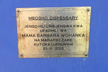 Dispensary Mbosho Schild